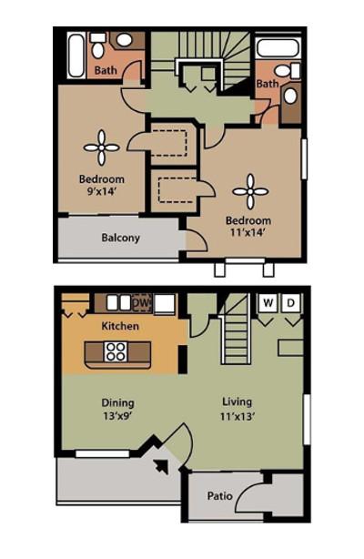 Floorplan - Bimini Townhome image