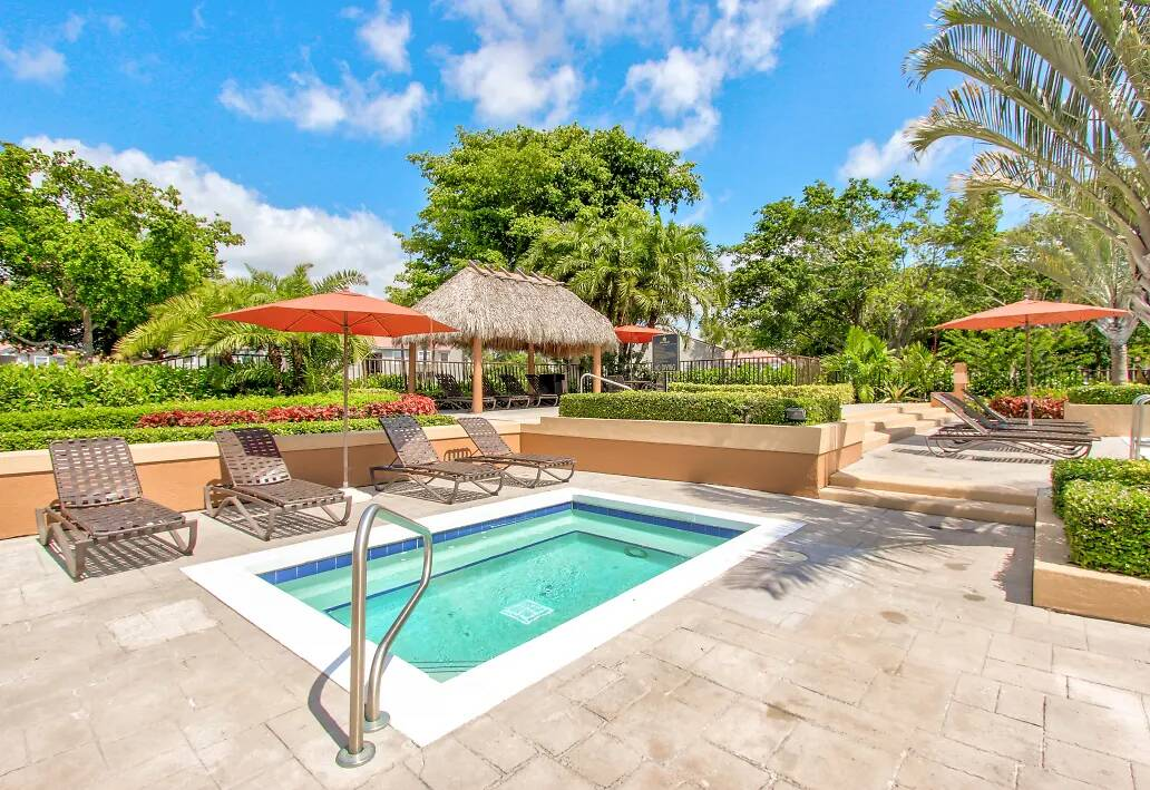 Sparkling Swimming Pool at Reflections of Boca Del Mar Apartments in Boca Raton, Florida