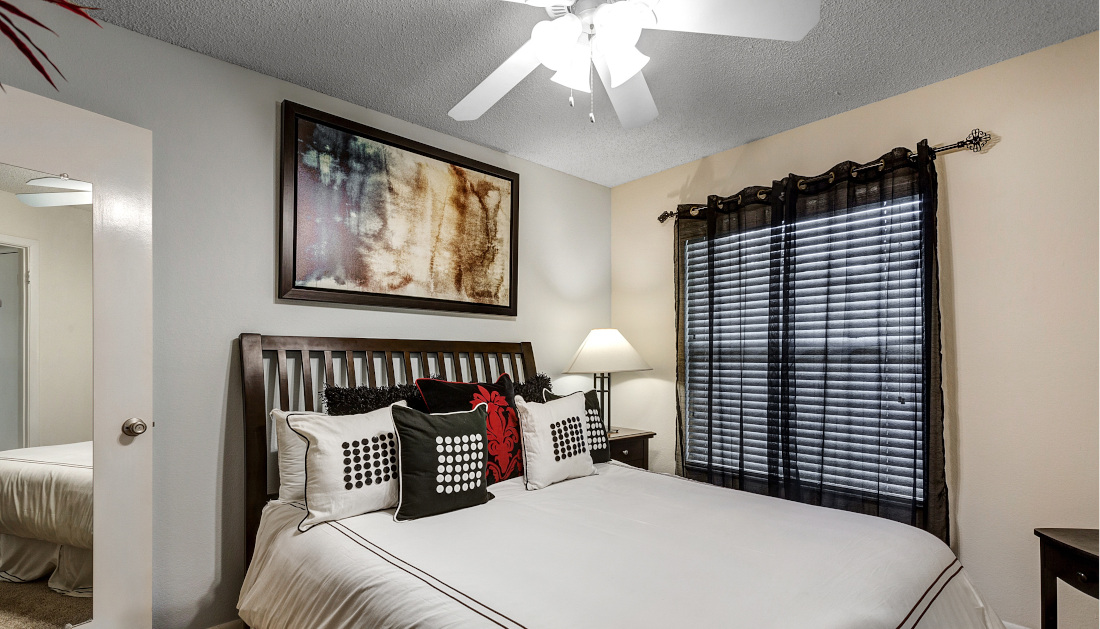 Interior Bedroom at Reflections of Boca Del Mar Apartments in Boca Raton, Florida