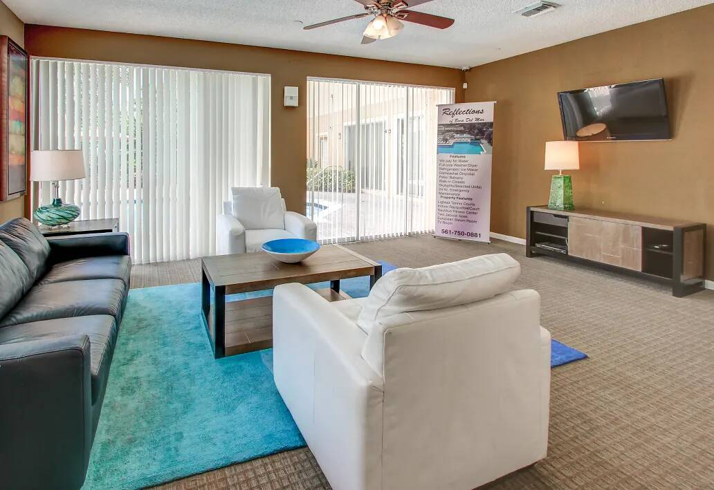 Stylish Interiors at Reflections of Boca Del Mar Apartments in Boca Raton, Florida