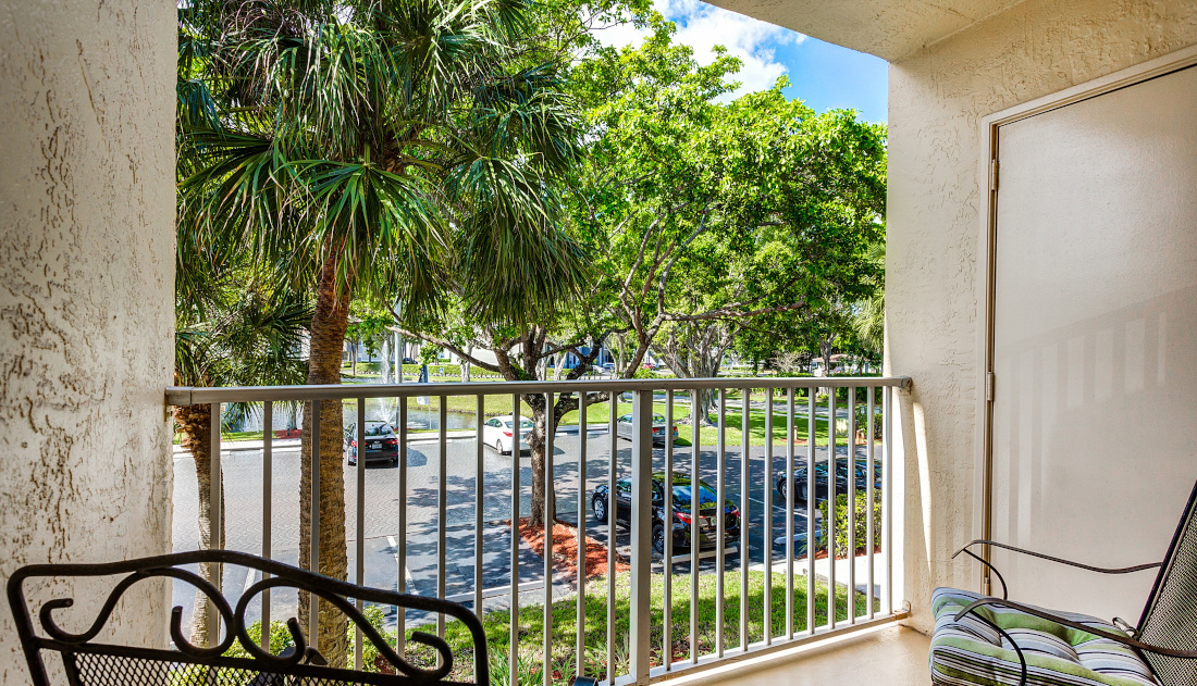 Private Balcony  at Reflections of Boca Del Mar Apartments in Boca Raton, Florida