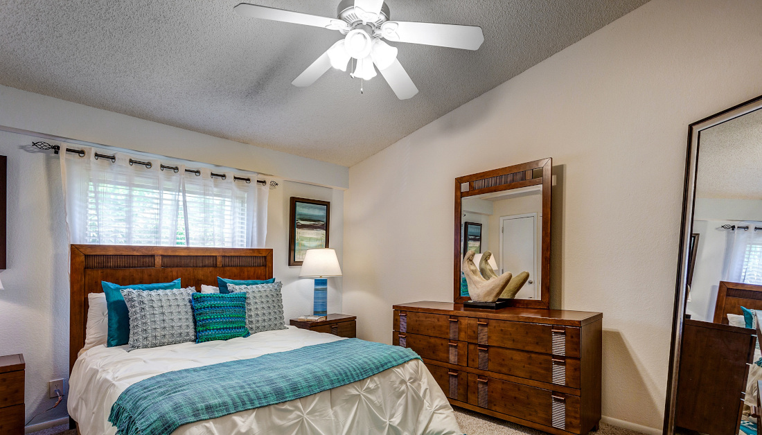 Spacious Bedroom at Reflections of Boca Del Mar Apartments in Boca Raton, Florida