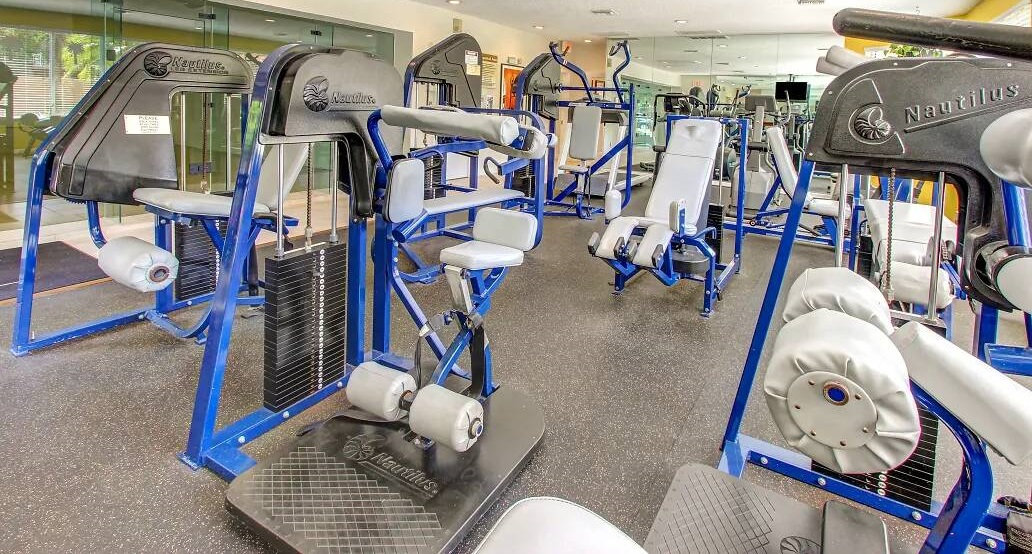 On-Site Fitness Center at Reflections of Boca Del Mar Apartments in Boca Raton, Florida