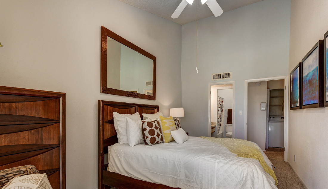 Bedroom at Reflections of Boca Del Mar Apartments in Boca Raton, Florida