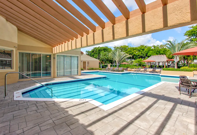 Two Hot Tubs at Reflections of Boca Del Mar Apartments in Boca Raton, Florida