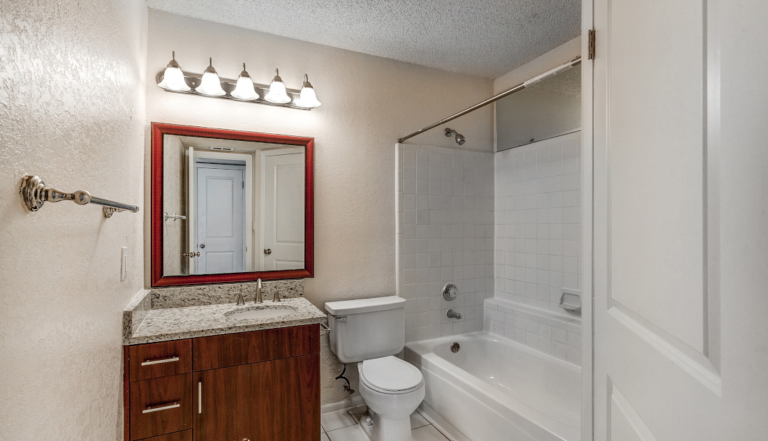 Tub and Shower  at Reflections of Boca Del Mar Apartments in Boca Raton, Florida