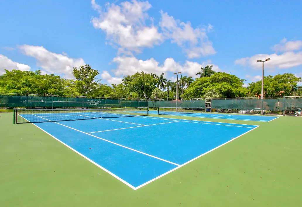 Tennis and Pickleball Courts at Reflections of Boca Del Mar Apartments in Boca Raton, Florida