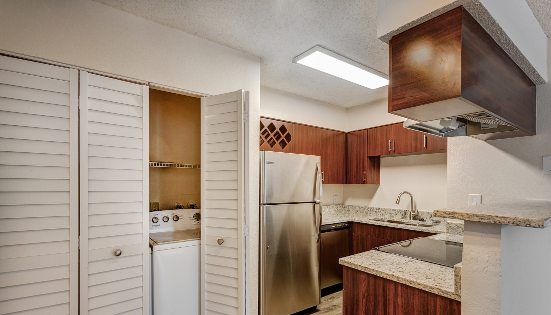 Cabinetry at Reflections of Boca Del Mar Apartments in Boca Raton, Florida