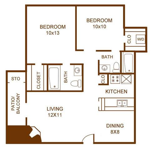 Regal Crossing Apartment Homes - Floorplan - B1