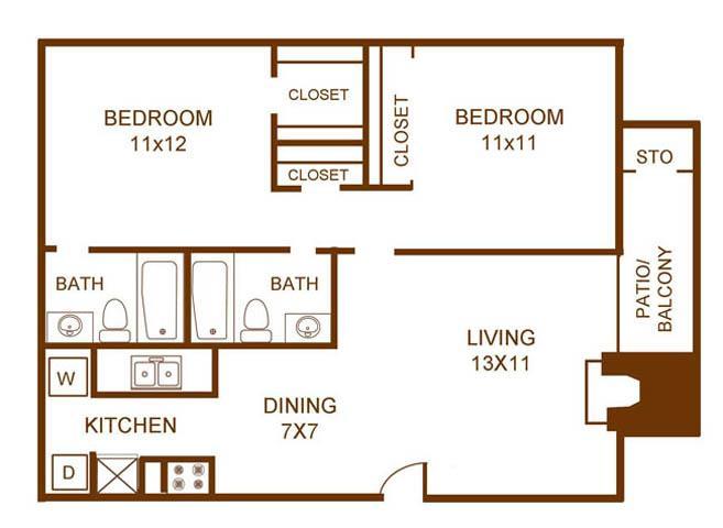 Regal Crossing Apartment Homes - Floorplan - B2