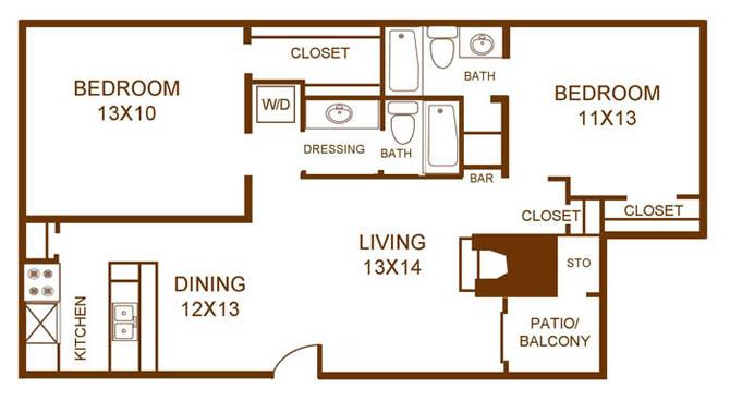 Regal Crossing Apartment Homes - Floorplan - B3