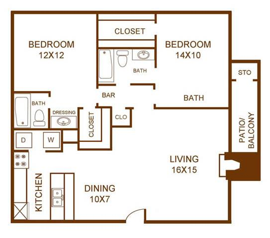 Regal Crossing Apartment Homes - Floorplan - B4