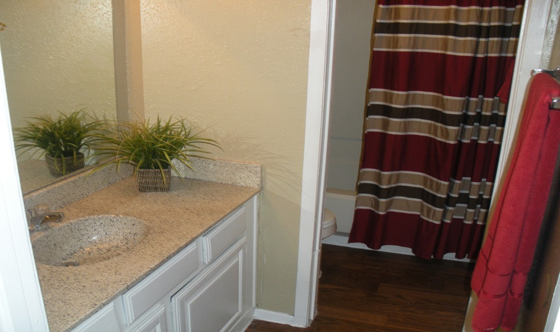 Upgraded Bathroom at Regal Crossing Apartments in Dallas, Texas