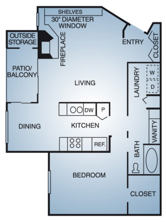Regatta Apartments - Floorplan - A2
