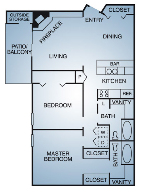 Regatta Apartments - Floorplan - B1