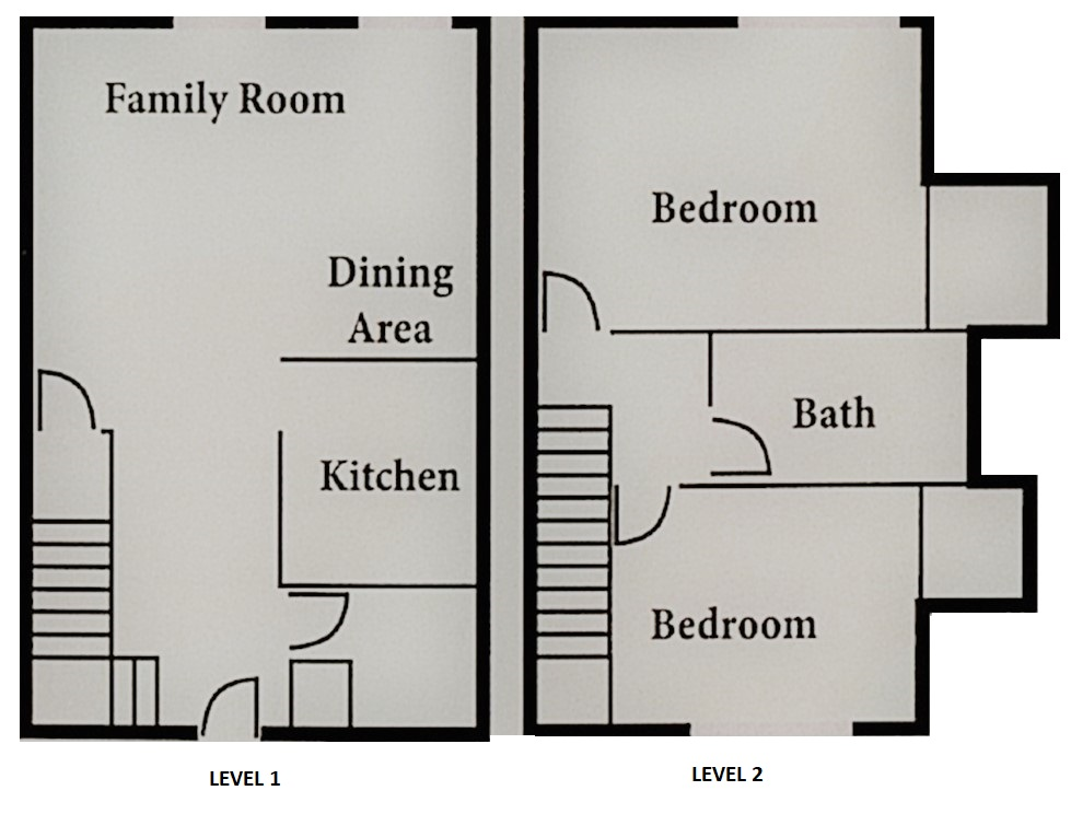 Informative Picture of Plan B-3 Townhome