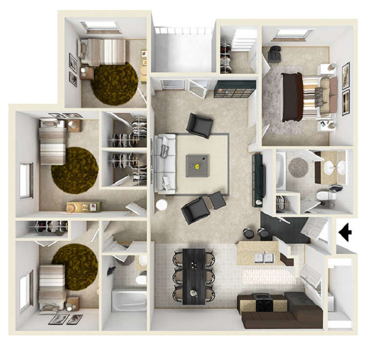 Informative Picture of Four Bedroom