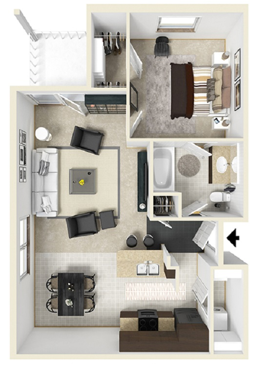 Reserve at Jefferson Crossing - Floorplan - One Bedroom