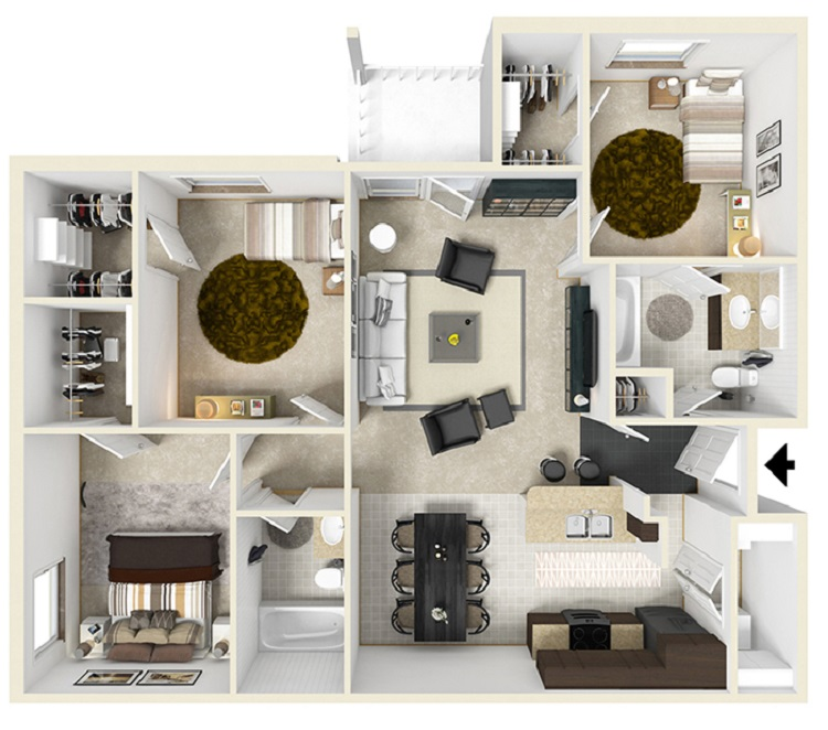 Reserve at Jefferson Crossing - Floorplan - Three Bedroom