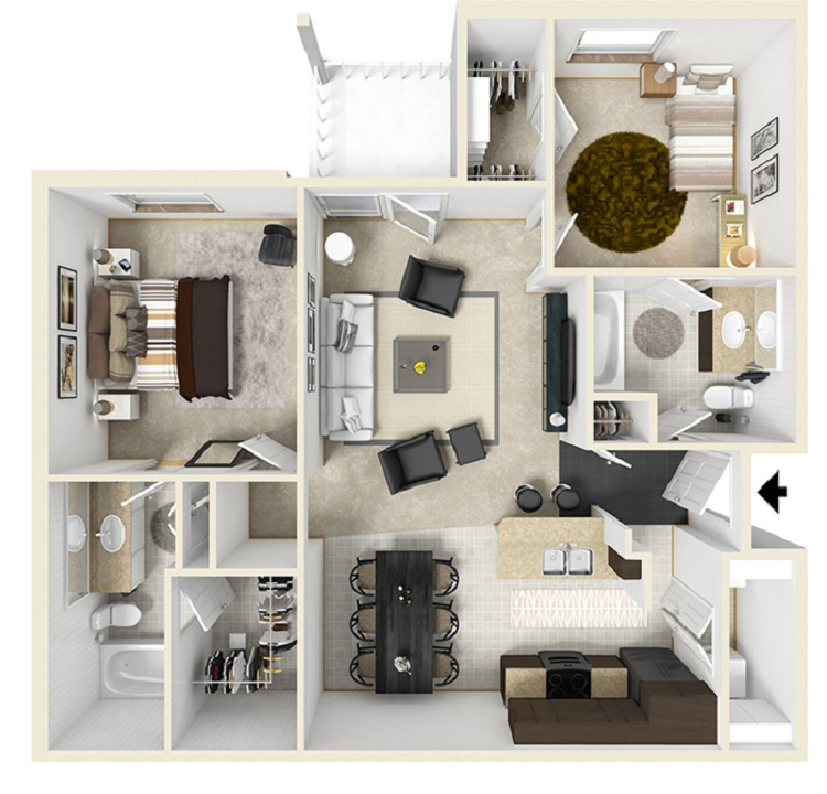 Reserve at Jefferson Crossing - Floorplan - Two Bedroom
