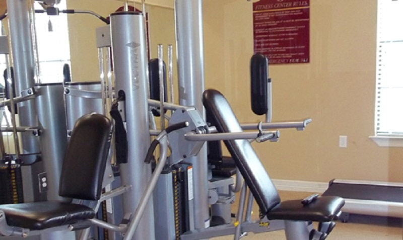 Modern Fitness Center Interior at the Reserve at Jefferson Crossing Apartments in Baton Rouge, LA