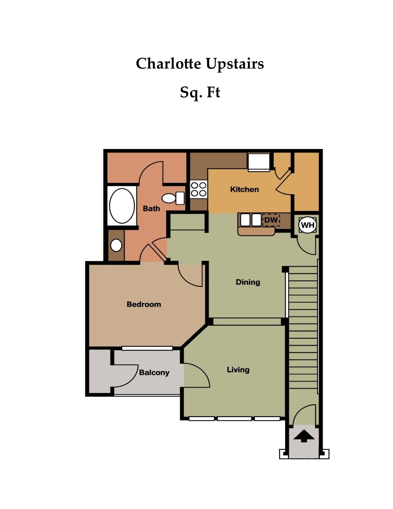 Floorplan - The Charlotte Upper image