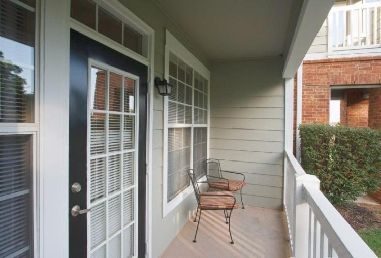 Balcony at the Reserve At Steele Crossing in Fayetteville, AR