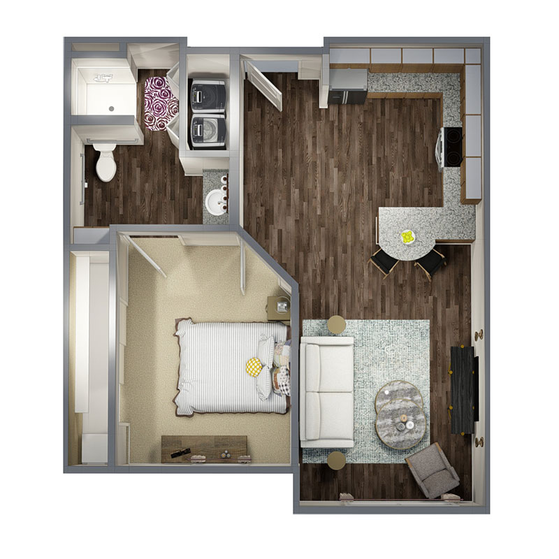 Residence at Arbor Grove - Floorplan - 1 Bedroom