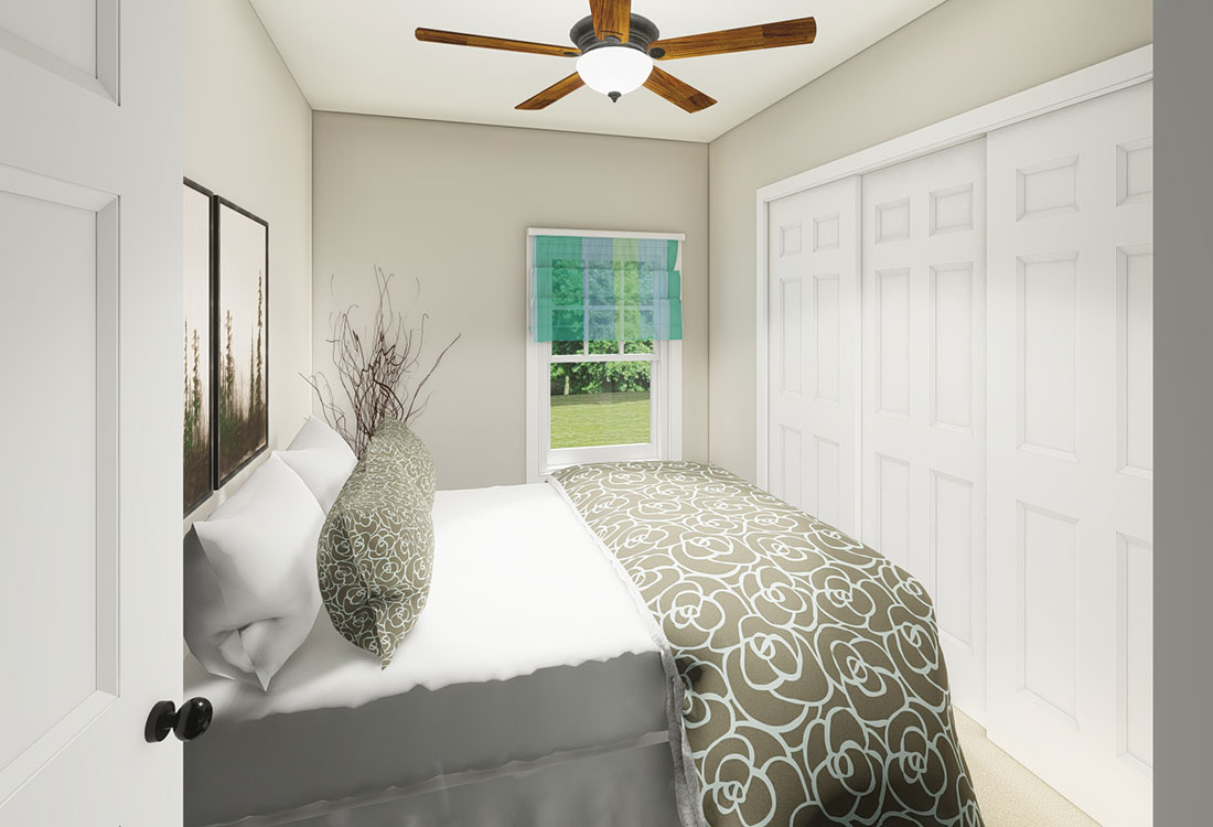 Bedrooms with Ceiling Fan(s) at the Residence of Arbor Grove - Apartments in Arlington, TX