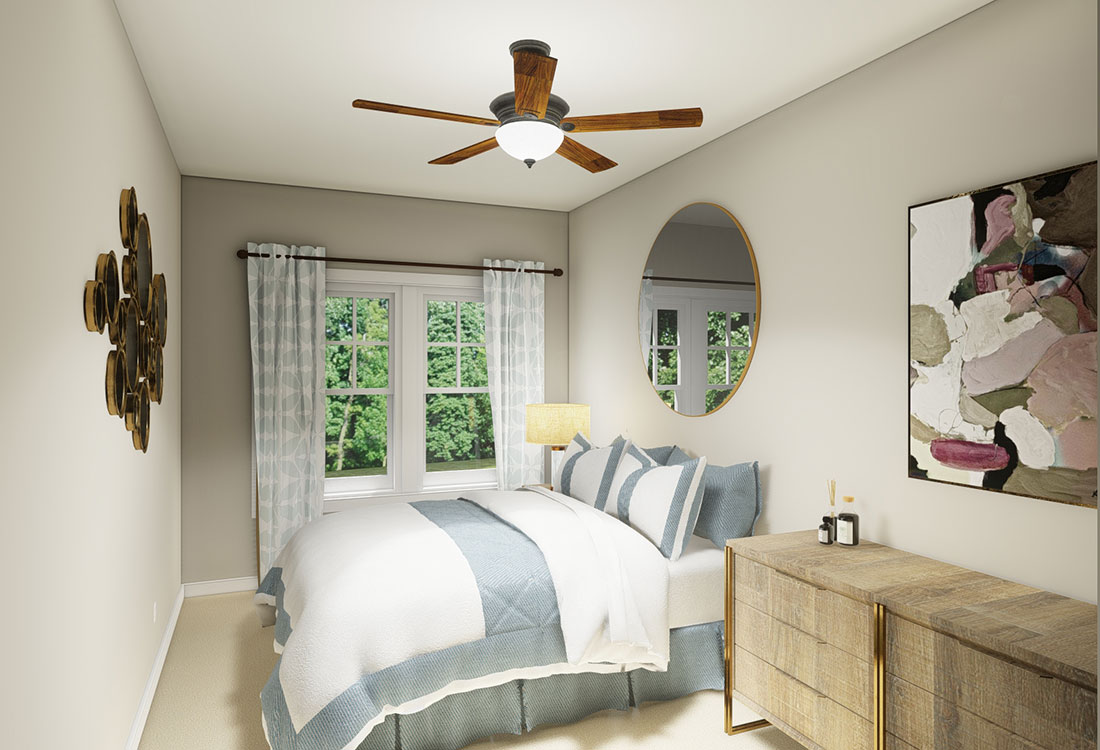 Bedrooms with Plush Carpeting at the Residence of Arbor Grove - Apartments in Arlington, TX