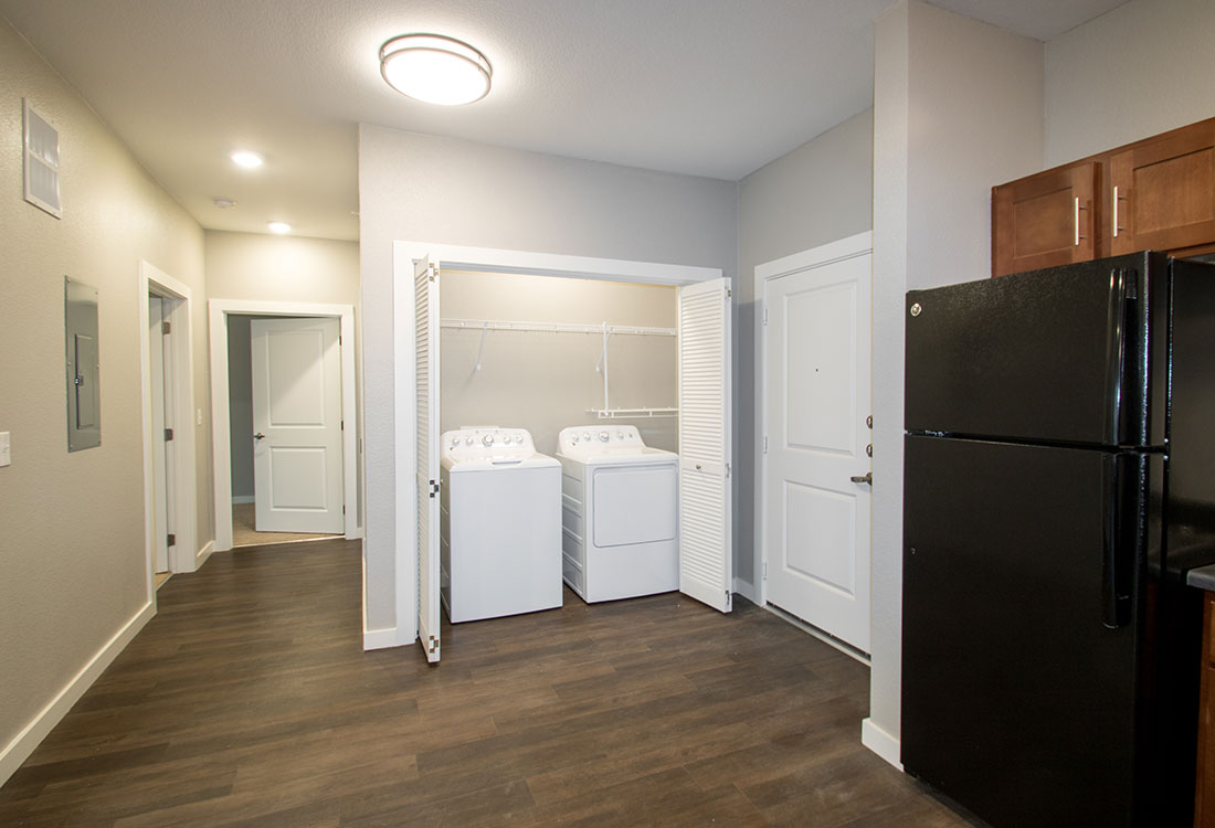 Full-Size Washer & Dryer at the Residence of Arbor Grove - Apartments in Arlington, TX