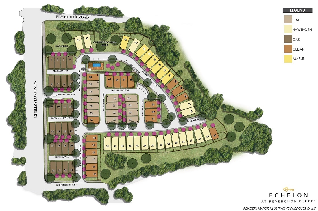 Echelon at Reverchon Bluffs Site Plan
