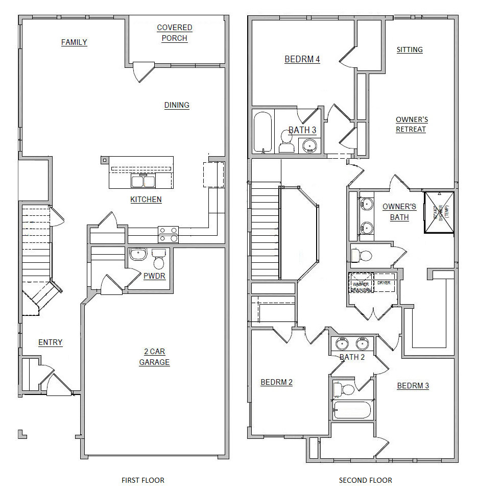 Echelon at Reverchon Bluffs - Floorplan - Hawthorn