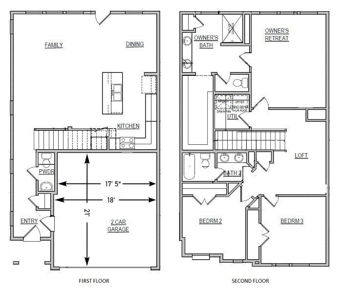 Echelon at Reverchon Bluffs - Floorplan - Cedar