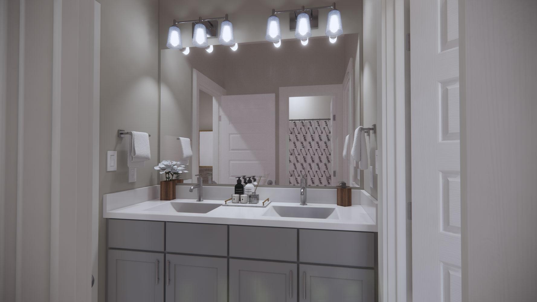 Bathroom at Echelon at Reverchon Bluffs in Dallas, Texas