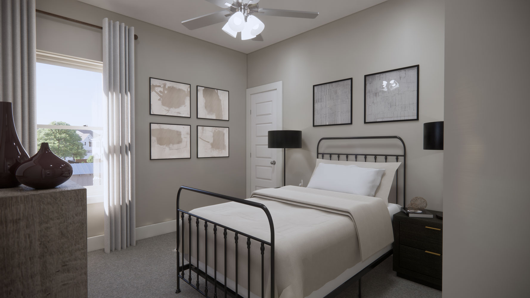 Light-Filled Rooms at Echelon at Reverchon Bluffs in Dallas, Texas