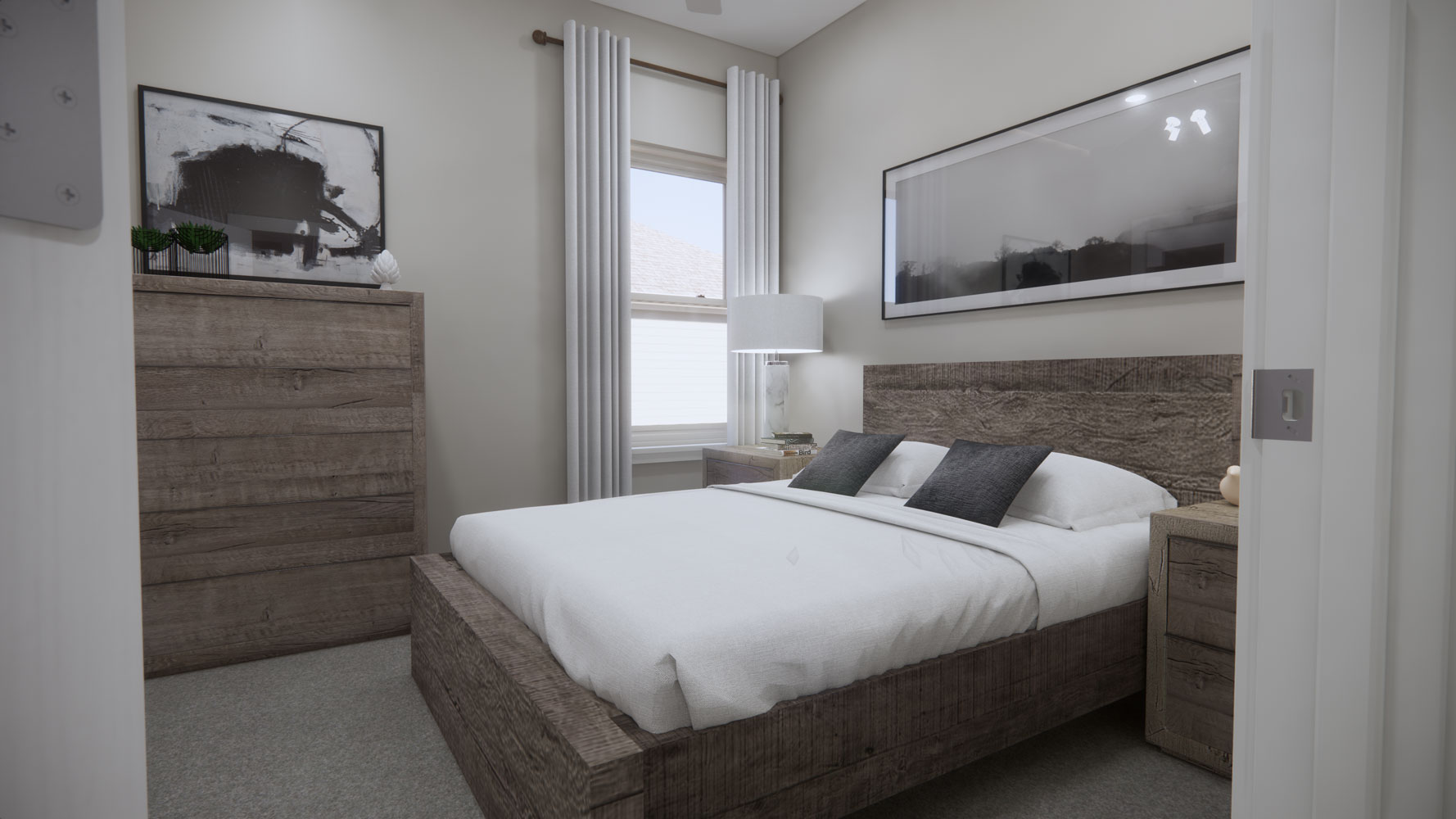 Spacious Bedrooms at Echelon at Reverchon Bluffs in Dallas, Texas