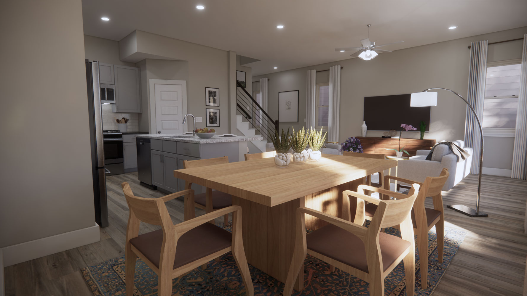 Space for Dining Set at Echelon at Reverchon Bluffs in Dallas, Texas