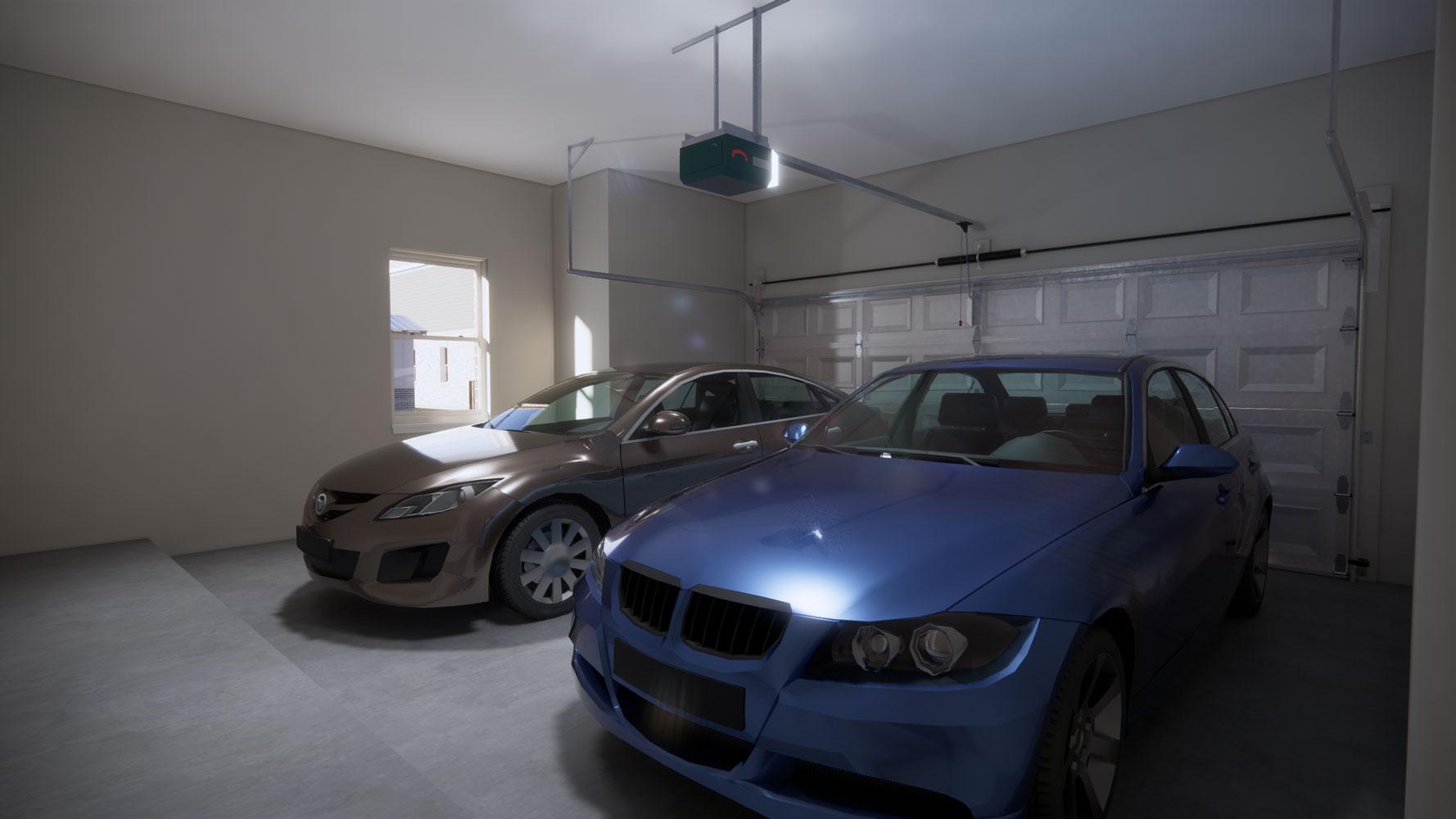 Two-Car Garage at Echelon at Reverchon Bluffs in Dallas, Texas