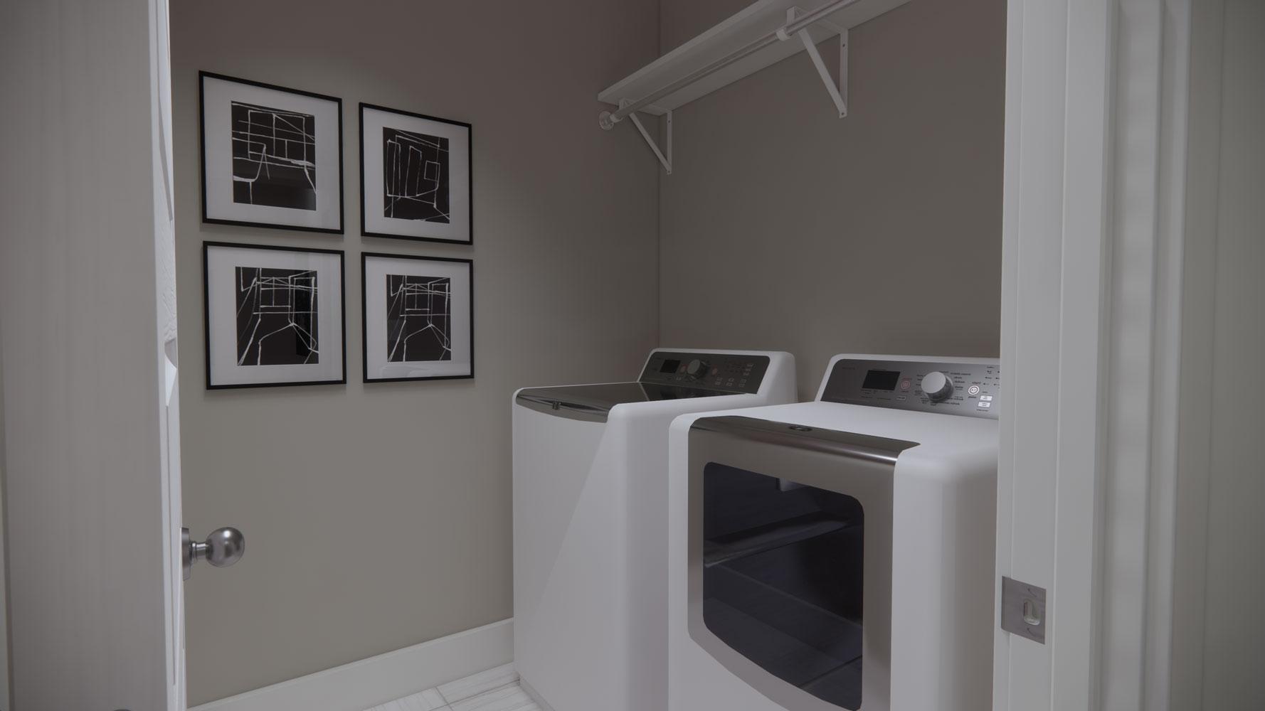 Laundry Room at Echelon at Reverchon Bluffs in Dallas, Texas