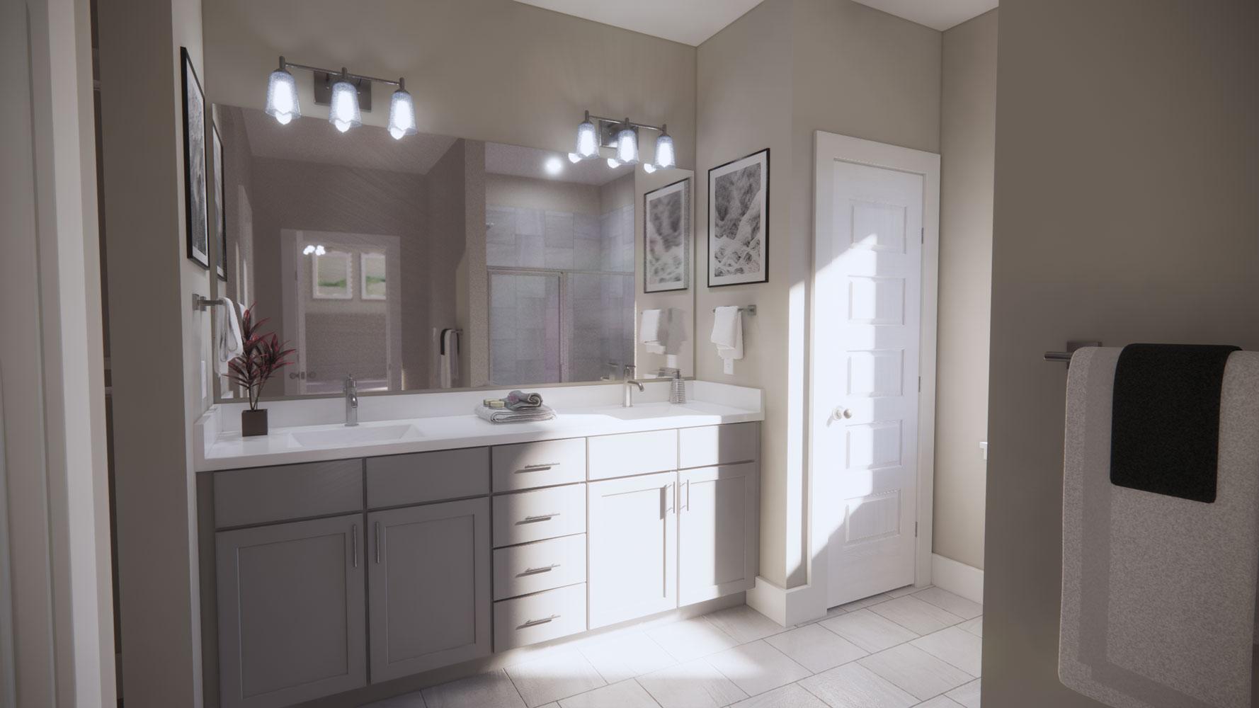 Bathroom Vanities at Echelon at Reverchon Bluffs in Dallas, Texas