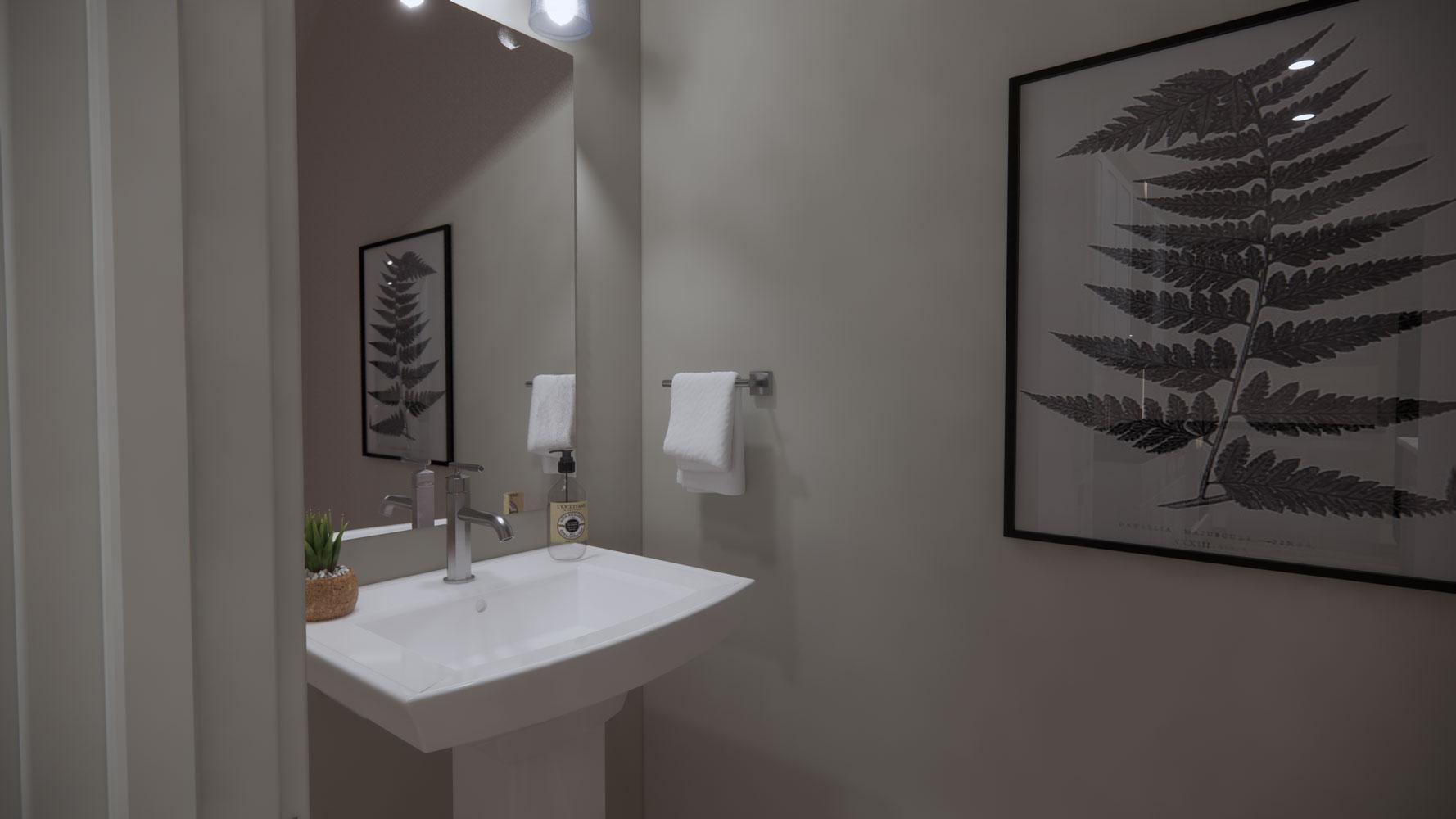Bathroom Sink at Echelon at Reverchon Bluffs  in Dallas, Texas