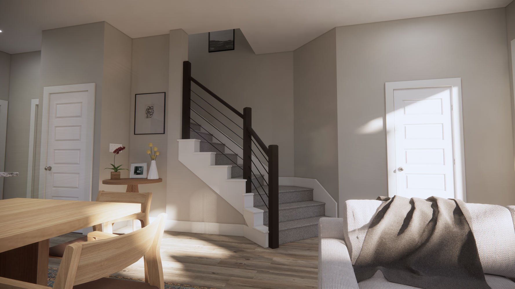 Apartments with Stairwells at Echelon at Reverchon Bluffs in Dallas, Texas