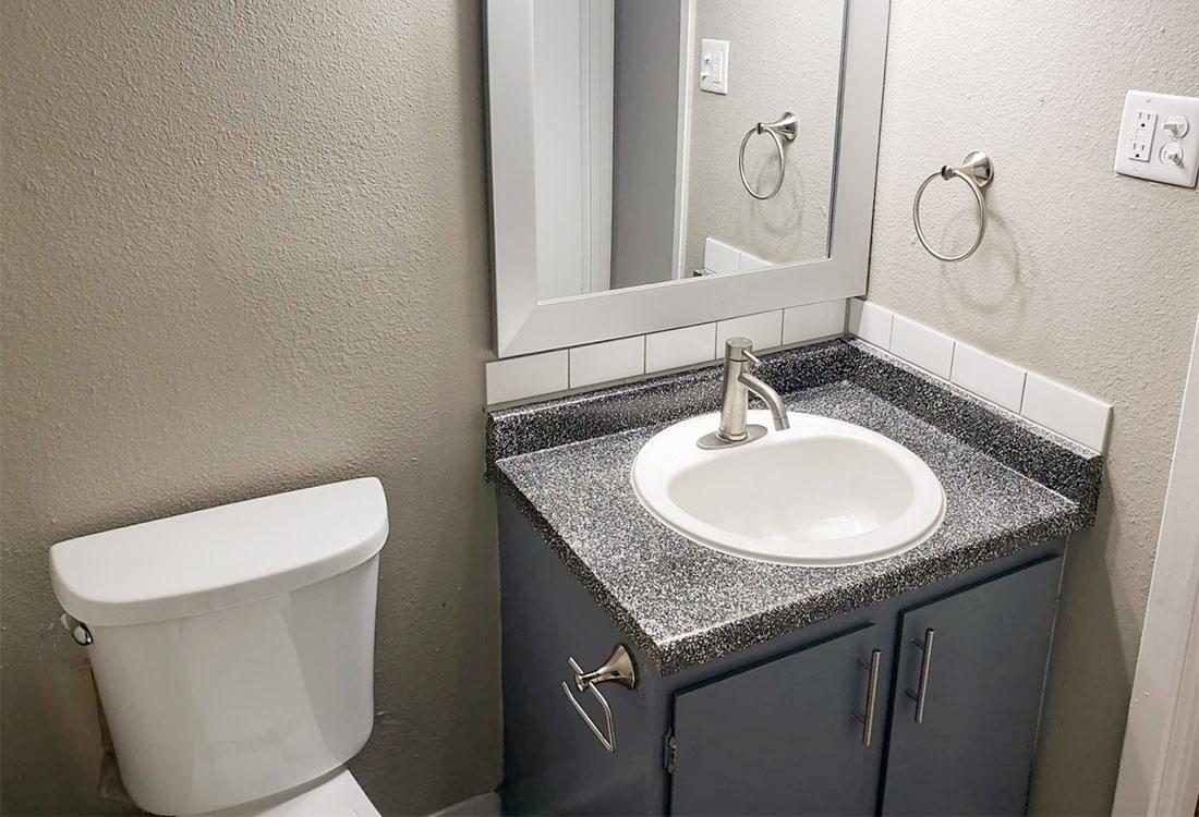 Bathroom Vanity at Riatta Ranch Apartments in Abilene, TX