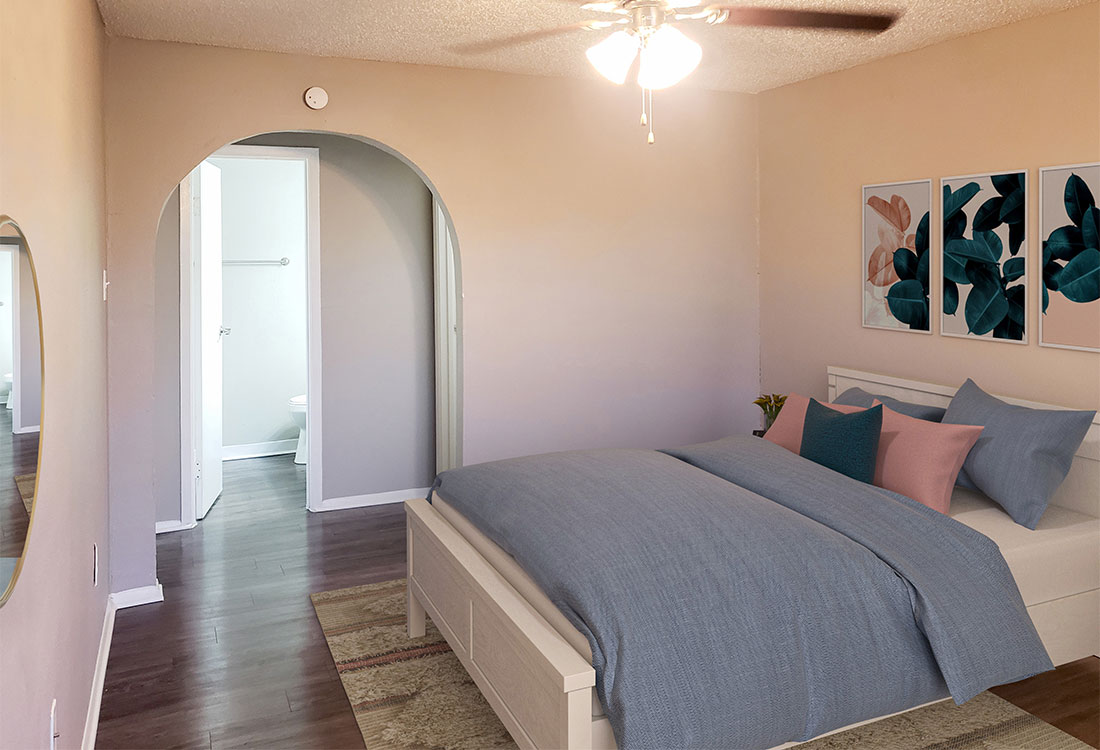 Bedrooms with Archways at Riatta Ranch Apartments in Abilene, TX