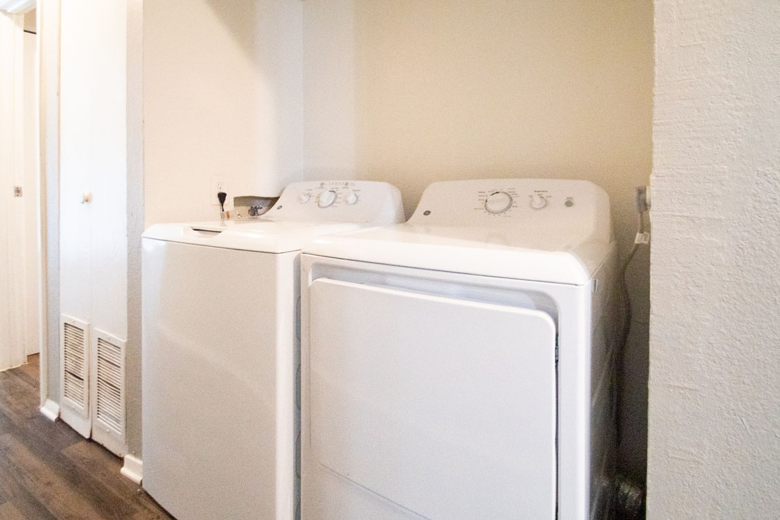 Full-Size Washer and Dryers at Riatta Ranch in Abilene, Texas