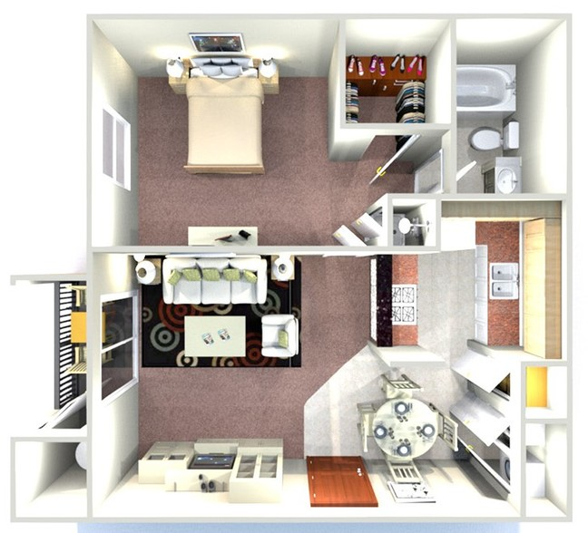 Ridgewood Apartments - Floorplan - The Mimosa