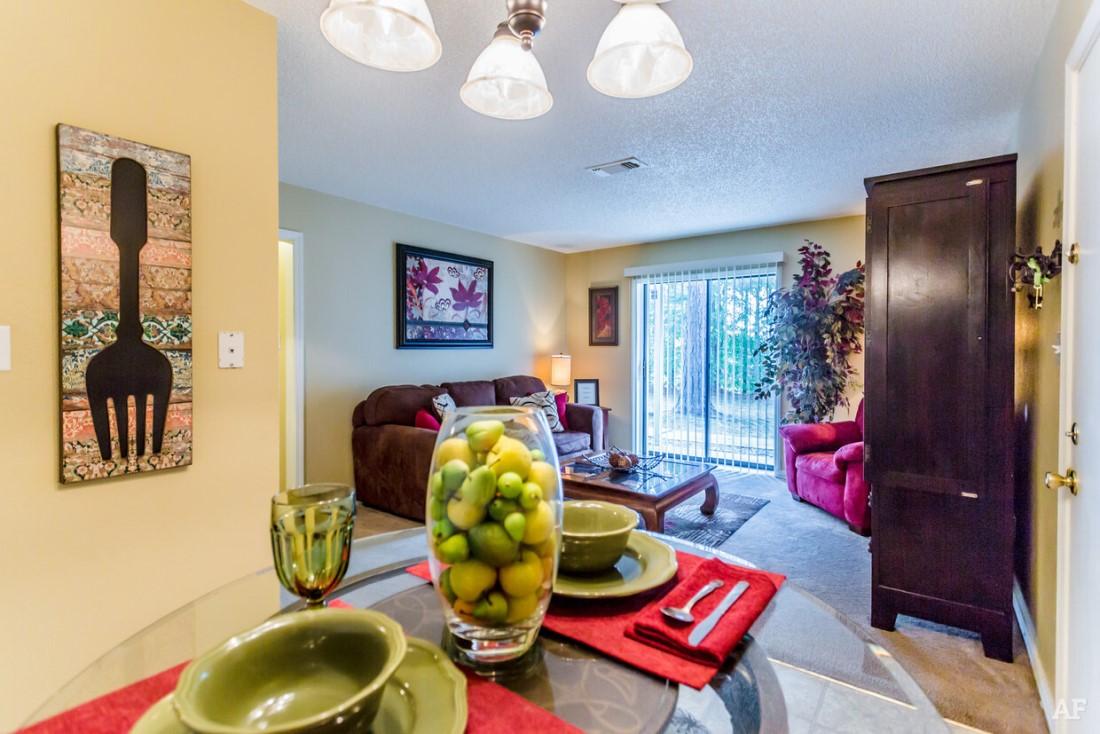 Open Floor Plans at Ridgewood Apartments in Hot Springs, Arkansas