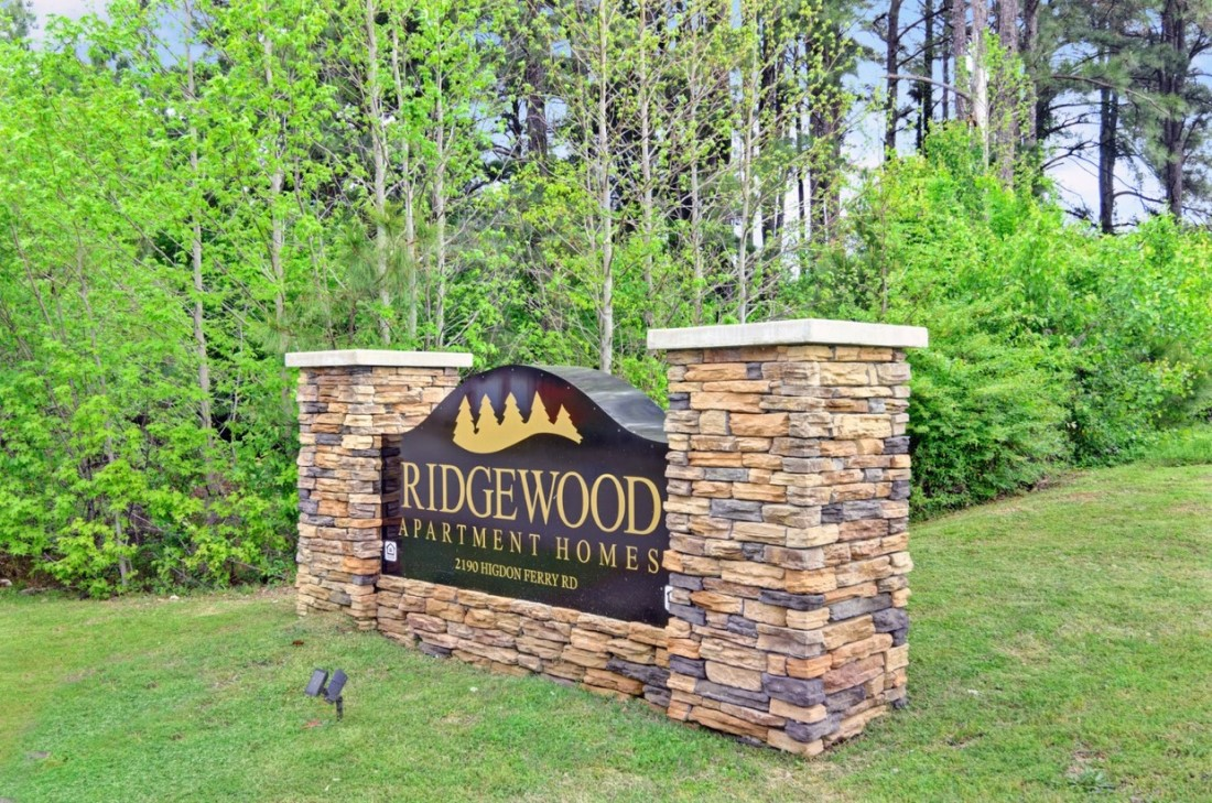 Welcome Signage at Ridgewood Apartments in Hot Springs, Arkansas