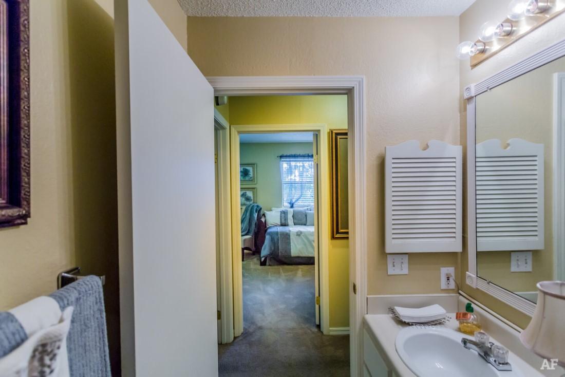 Bathroom Vanity at Ridgewood Apartments in Hot Springs, Arkansas